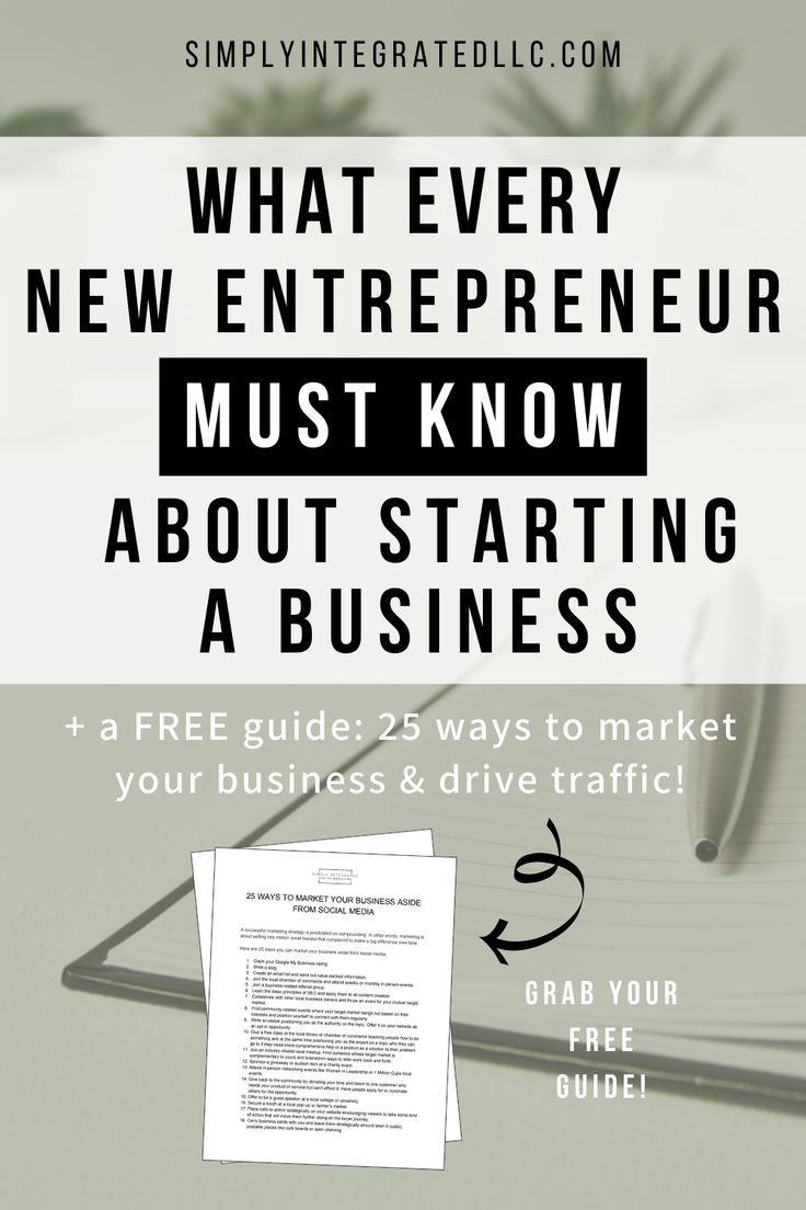 Starting a Business Tips for Beginners // Simply Integrated LLC --  #smallbusinesstips #newbusiness #onlinebusinesstips #business #entrepreneurship