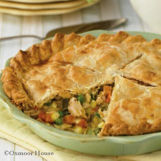 Easy Chicken Pot Pie With Refrigerated Piecrusts, Chicken, Mixed Vegetables, Cream Of Chicken Soup, Celery Flakes, Pepper, Poultry Seasoning