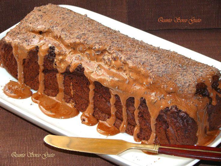 Quinto Senso Gusto: Plumcake al cacao con glassa di Marshmallow al cio...