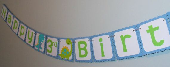 Check out this item in my Etsy shop https://www.etsy.com/ca/listing/493757999/dinosaur-birthday-banner-dino-1st