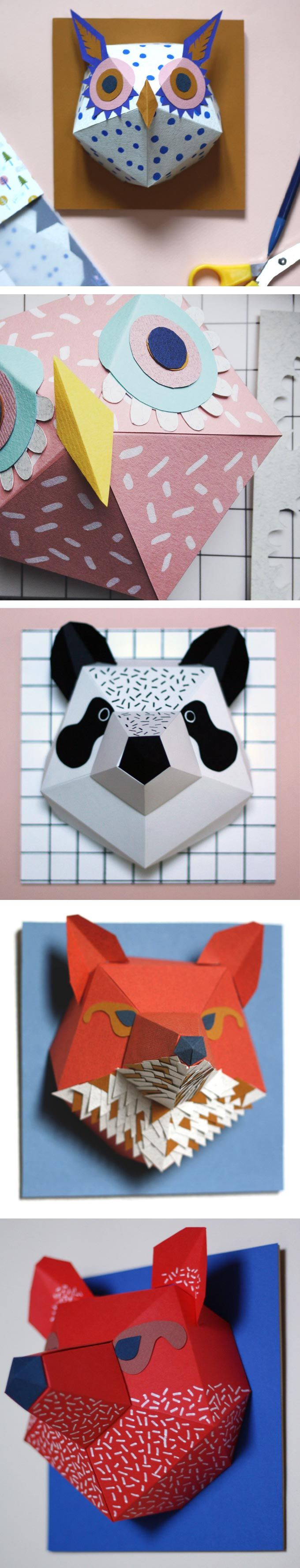 Mlle Hipolyte has recently opened an Etsy shop where she sells her handmade creations. There, you can purchase hang able busts of pandas, bears, and more.