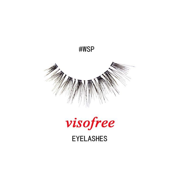 1Pair Visofree Eyelashes Fashion soft False Fake Human Hair Eyelashes Adhesives Glamour Crisscross Eye lashes Makeup Beauty #WSP