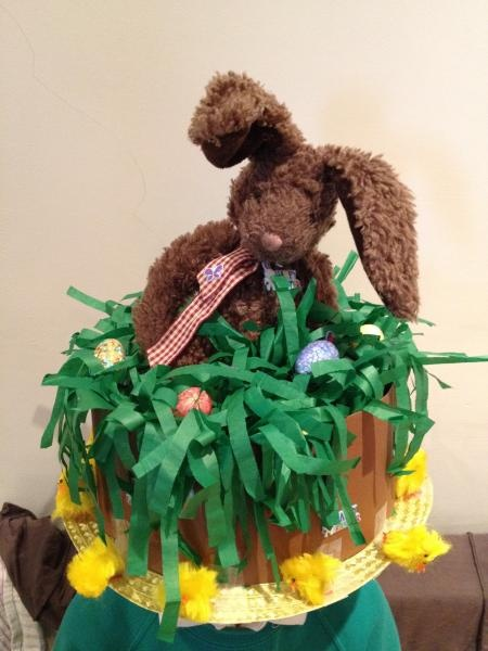 Win a Montezumas Easter hamper in our Easter bonnet pictures competition. Easter bonnet by PermanentlyOnEdge
