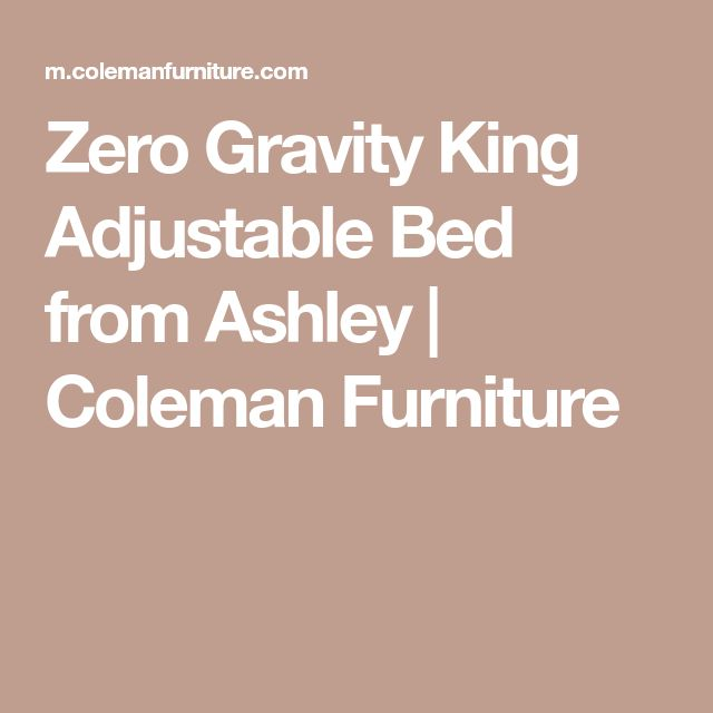 Zero Gravity King Adjustable Bed From Ashley | Coleman Furniture