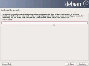 8. Configure the network - Domain Name