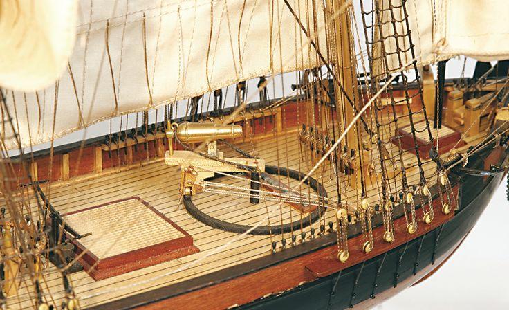 Goleta DOS AMIGOS. Detalle modelismo naval.