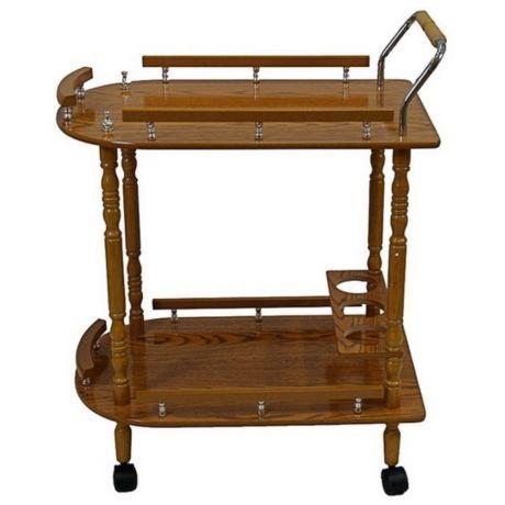 Столик сервировочный Ricom на колесиках, темный дуб, 62х40х80 см от производителя Ricom