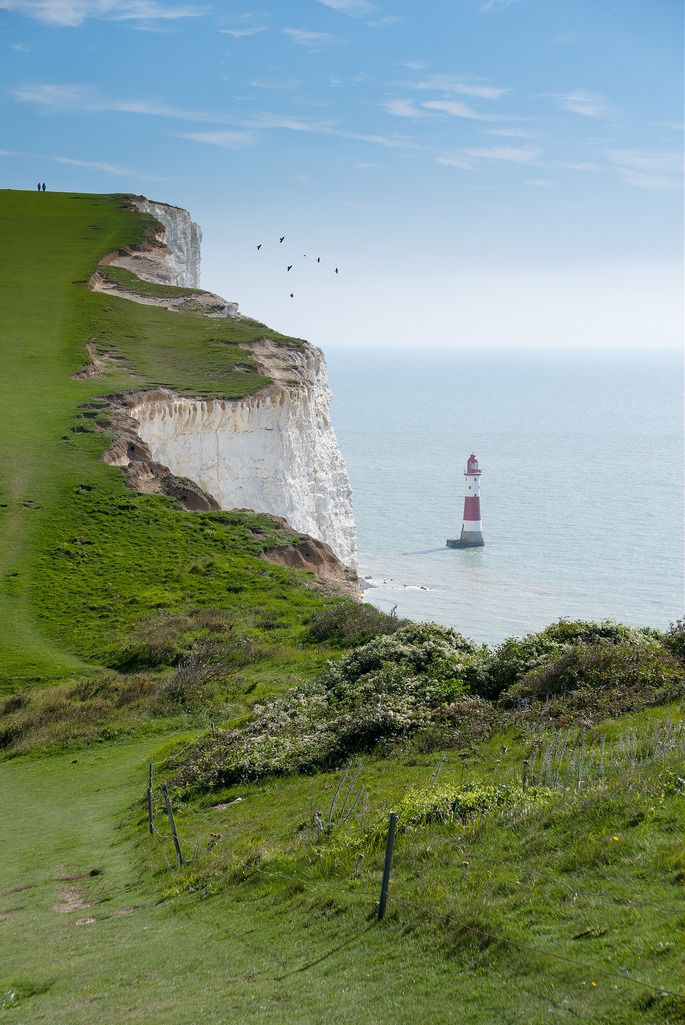 "travel-lusting: "" Beachy Head Lighthouse, Sussex, England (by David Biggins) """