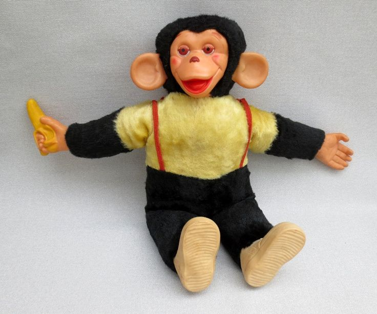Isn't this like Daddy's Zippy?! 1950S Toys | Vintage Mr. Bim Stuffed Toy Monkey With by CollectibleOddities