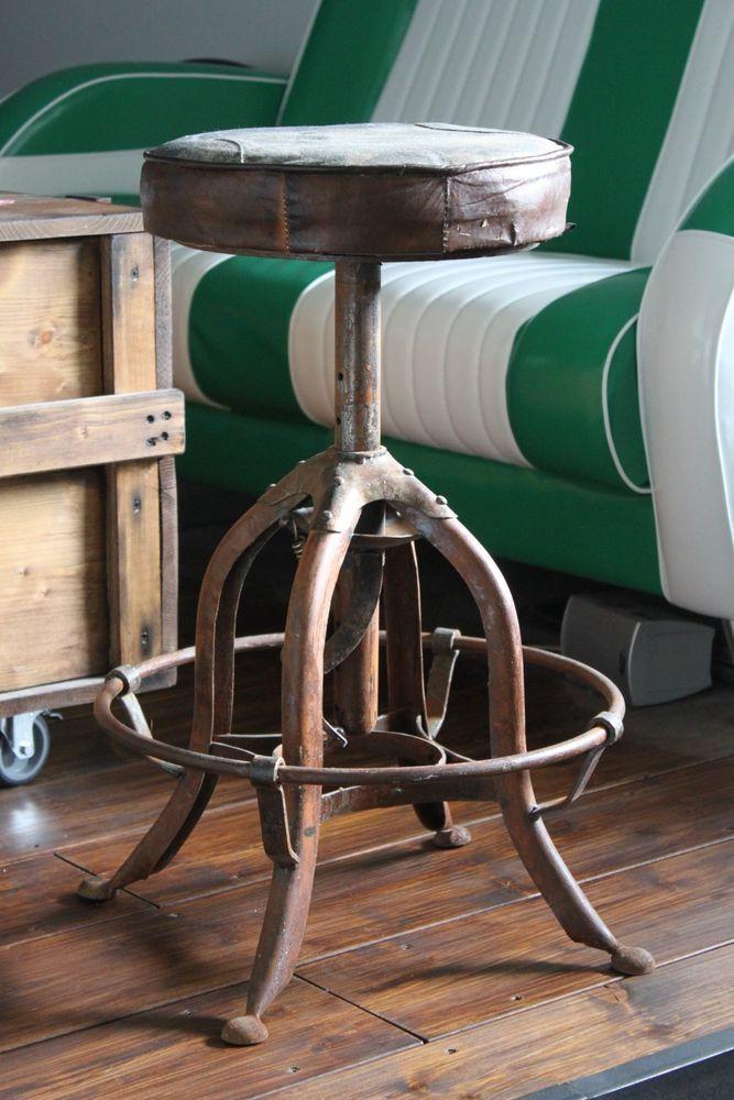 Industriehocker Barhocker Loft Fabrik Industrie Hocker Retro Bar Metallhocker