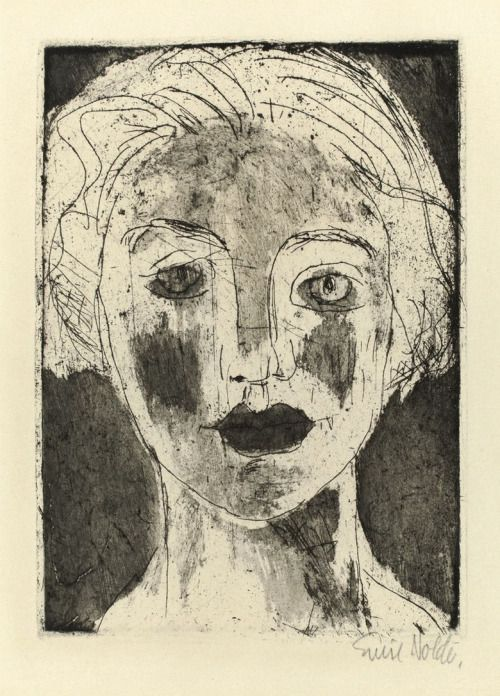 Emil Nolde (German-Danish, 1867 - 1956)  The Picture of a Girl (Mädchenbildnis), 1924  etching