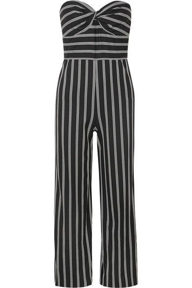 53b8f7eb0ee VERONICA BEARD chic Cypress strapless striped crepe de chine jumpsuit