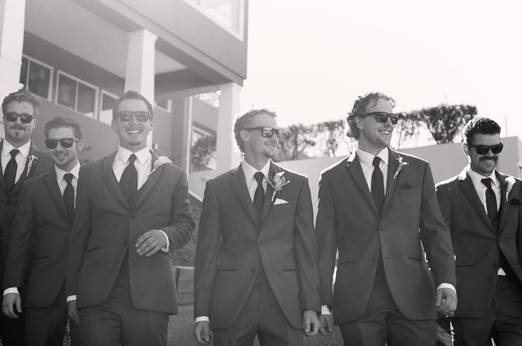 Groom and Groomsmen, Kelowna Wedding