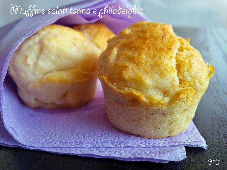 Muffins salati tonno e philadelphia_