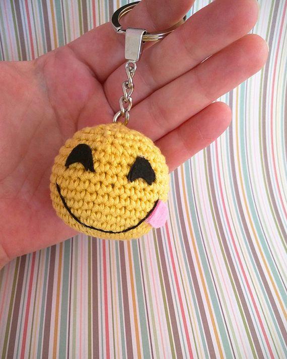 Llavero de ganchillo Emoji /crochet keychain
