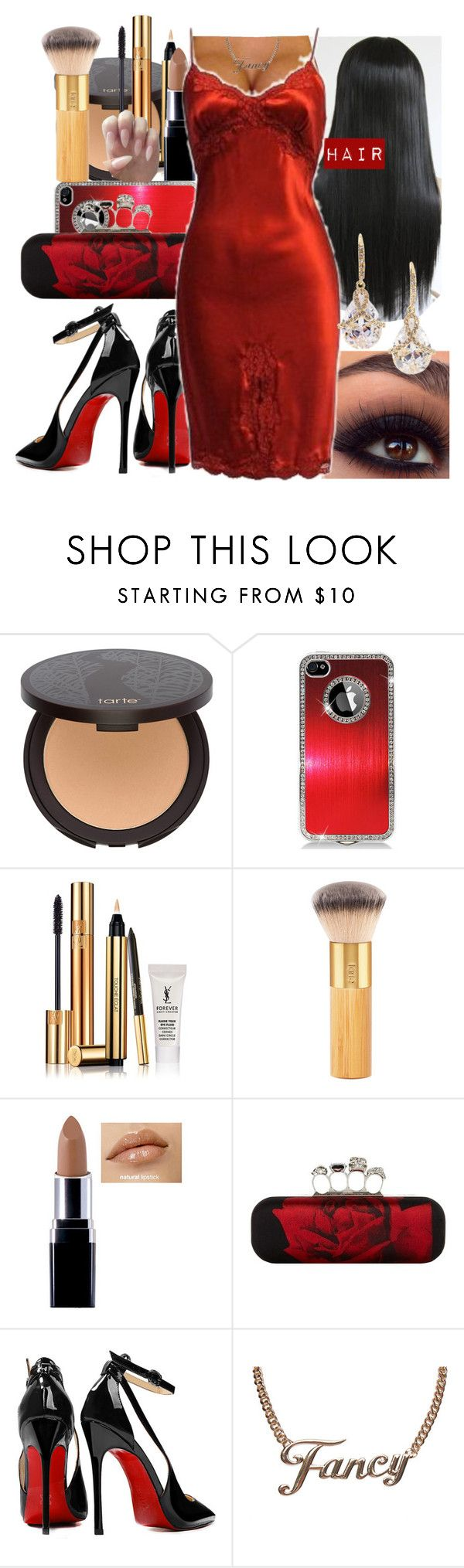 """""""Hip Hopera Club"""" by missk2blue ❤ liked on Polyvore featuring tarte, Yves Saint Laurent, Alexander McQueen, Posh Girl, Freddy, Wet Seal and Fragments"""