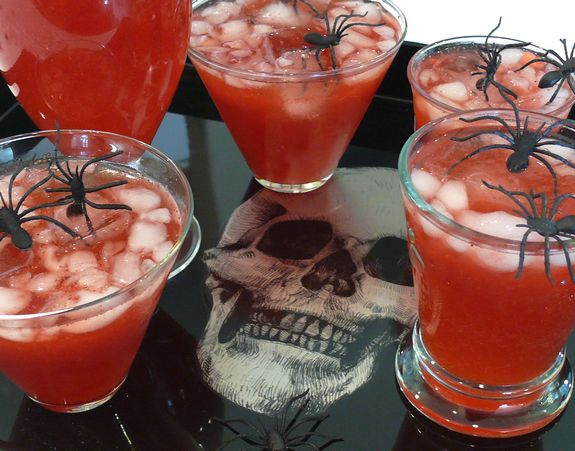 blood red punch drinks alcohol recipesdrink recipeshalloween - Spiked Halloween Punch Recipes
