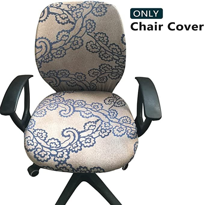 Amazon Com Melaluxe Computer Office Chair Cover Protective Stretchable Universal Chair Covers In 2020 Office Chair Cover Slipcovers For Chairs Comfy Office Chair