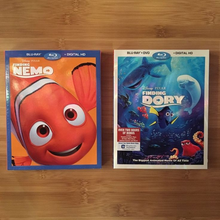 Brand New - Finding Nemo and Finding Dory Blu-Ray combo pack