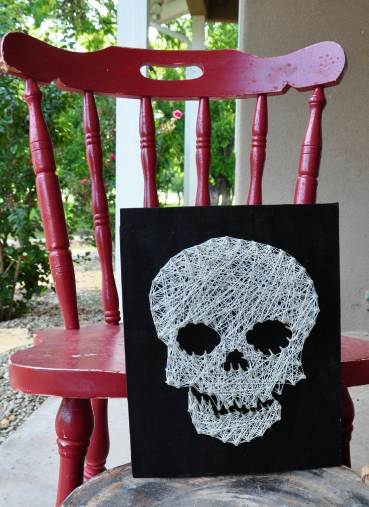 Halloween Skull String Art