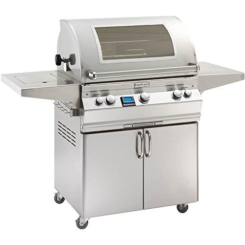 Fire Magic Aurora A660s Propane Gas Bbq Grill With Single Side Burner Rotisserie And Magic View Window On Cart  A660s6e1p62w *** You can find more details by visiting the image link.