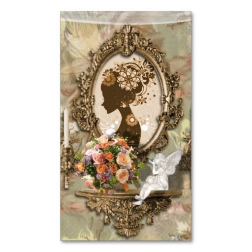 51 best makeup artist business cards images on pinterest makeup angelic vintage elegant beauty business card reheart Gallery