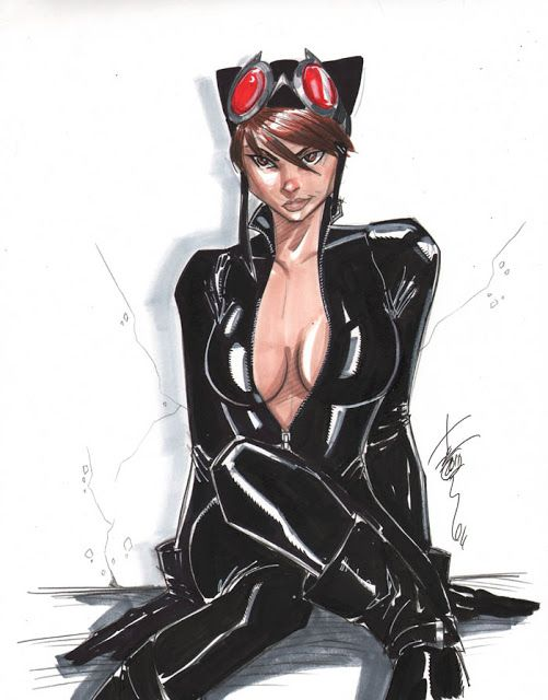 Fashion and Action: Catwoman - Fan Art by Oniyon, Hodges