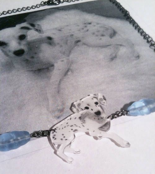 Shrinky Dink pendant from a photo
