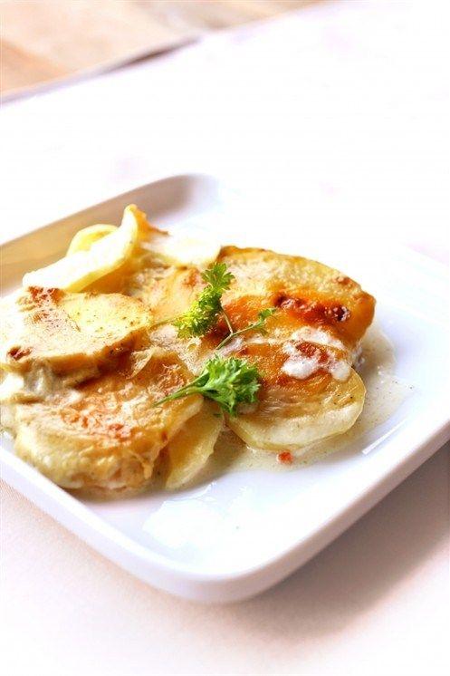 Картофель с луком и сливками