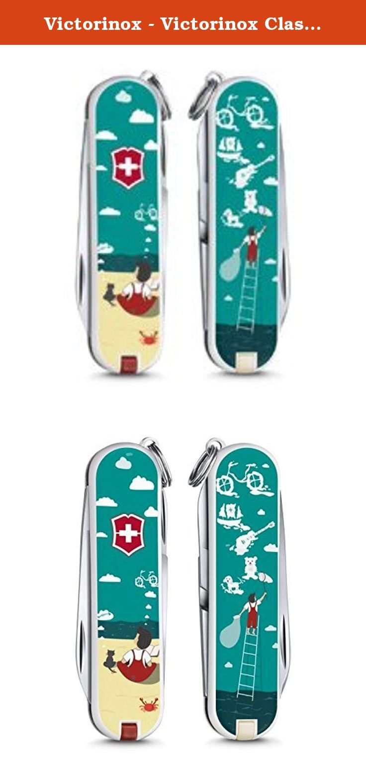 Victorinox - Victorinox Classic Edition 2016 Dream - Swiss Army Pocket Knife - 58 mm - 7 Tools. Edition Limited 2016 - Model : Dream Big - Victorinox Classic 0.6223.L1606 - Length : 58 mm (2,28 inches) - Width : 9 mm (0,35 inches) - Weight : 21 g (0,74 oz) - - Tools : - 1. Blade - 2. Scissors - 3. Nail file with : - 4. - screwdriver 2,5 mm - 5. Tweezers - 6. Toothpick - 7. Key ring.