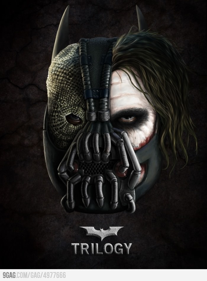 The Dark Knight Trilogy: Fear, Chaos, Pain.