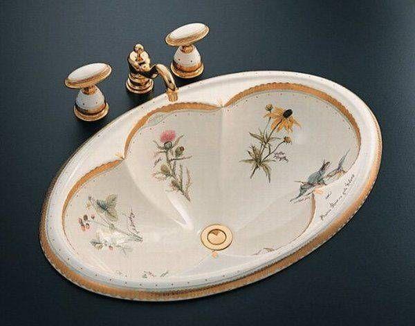 Modern Bathroom Sinks with Beautiful Prints, Bathroom Remodeling Ideas