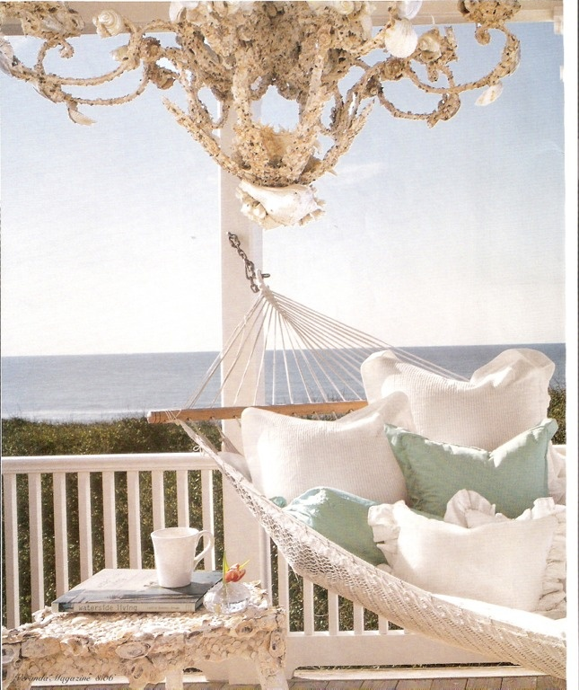 Hammock on the balcony overlooking the ocean... ahhh!