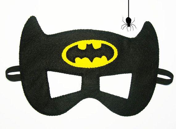 Batman sintió máscara 2 años tamaño adulto fiesta por FeltFamily