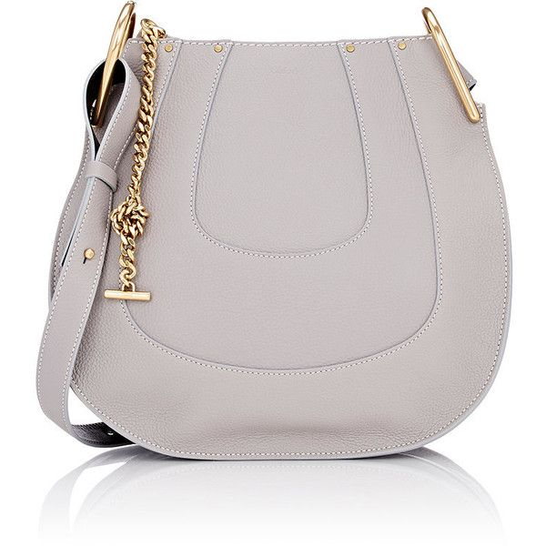 Chloé Hayley Small Hobo ($1,890) ❤ liked on Polyvore featuring bags, handbags, shoulder bags, colorless, leather hobo handbags, hobo shoulder bag, leather purse, long strap shoulder bag e clear handbags