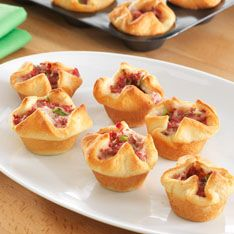 St. Patrick's Day Food including Corned Beef Puffs