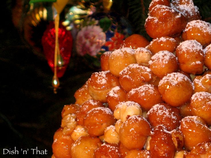 Struffoli a sweet Italian tradition that my mom made every year.