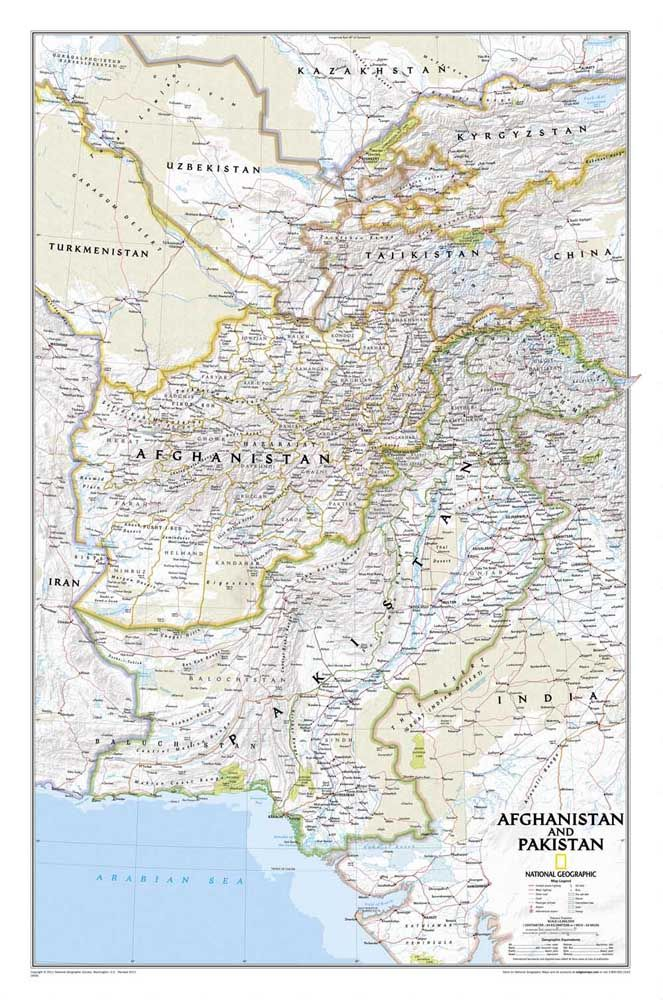 Free ship oil painting AFGHANISTAN PAKISTAN MAP print poster on canvas wall artwork sticker home decor living room pictures CP06