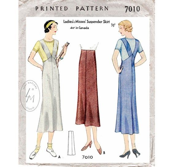 1930s 30s dress vintage sewing pattern reproduction  2 styles  accordion pleating  34 sleeves  bust 34