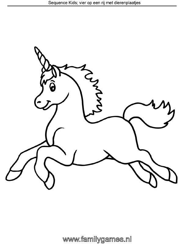 Kleurplaat Eenhoorn Kleurplaten Unicorn Unicorn Art
