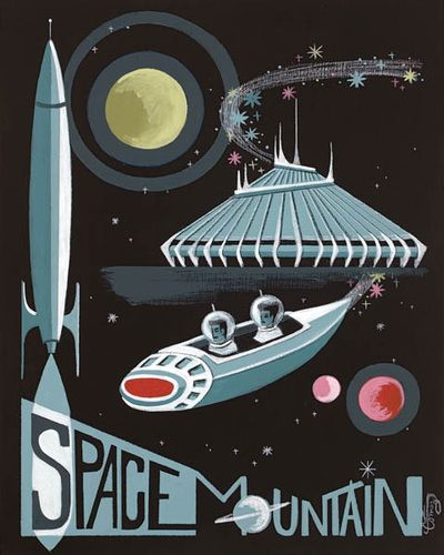 El Gato Gomez Art – Space Mountain Print