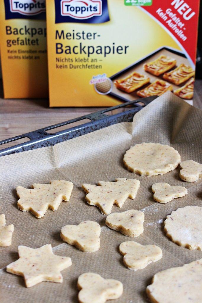 FOOD   Haselnuss-Mürbteigkekse – Einfach backen mit dem neuen Toppits Backpapier gefaltet – Starlights in the Kitchen