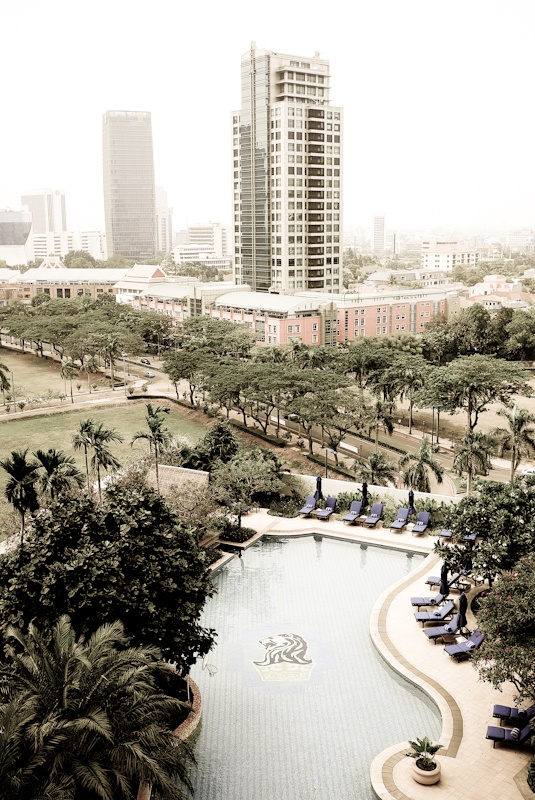 The view from my hotel window in Jakarta, Indonesia.-I would absolutely love to visit Jakarta.