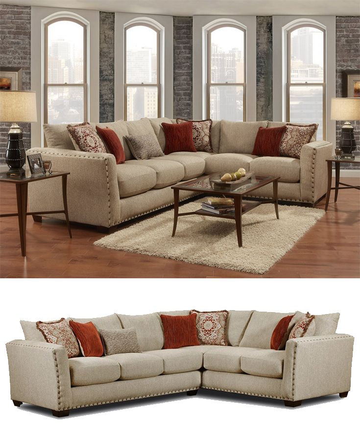 Groovy This Spacious Sectional Sofa In Warm Neutral Priceless Download Free Architecture Designs Scobabritishbridgeorg