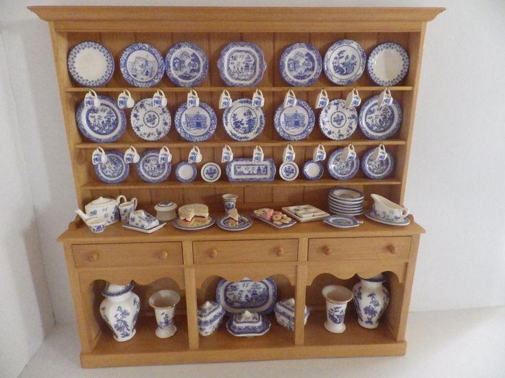 Stokesay, Jane Newman & English kitchen Blue Dresser