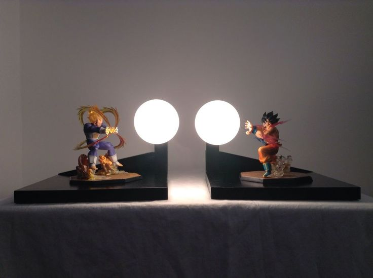 Superb Vegeta SS Vs Goku Kaioken Custom Lamp Dragonball Z Lamp Dragon Ball Z