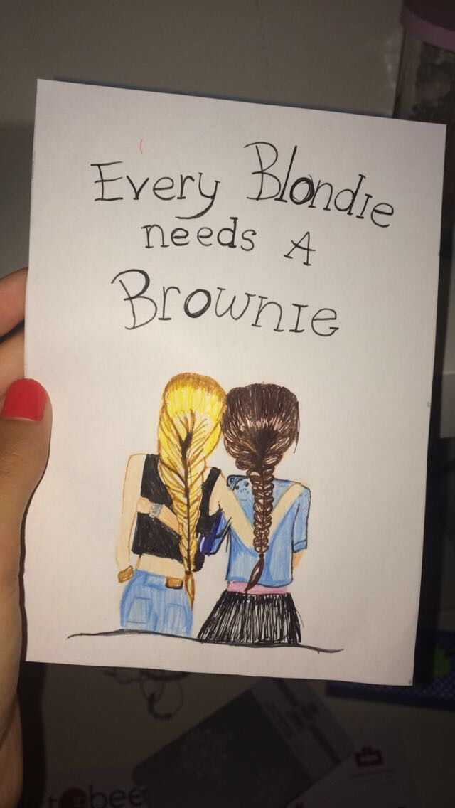 Every blondie needs a brownie❤️ #selfmade