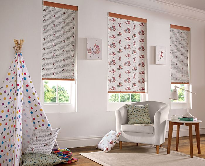 fantastic mr fox roller blind is practical fun and colourful whether it is a nursery
