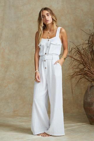 c64e11afb3 Sundrenched jumpsuit in 2019 | My Style | Jumpsuit, Cotton jumpsuit ...