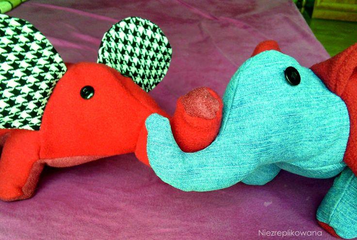 Setki słoni dla dzieciaków - Słonik DIY, sew a elephant
